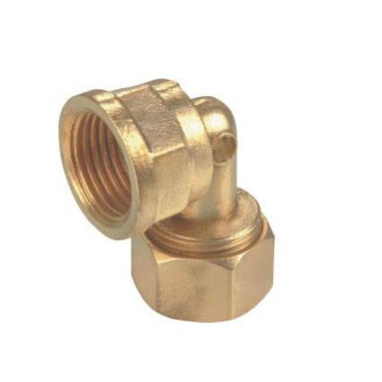 1105黃銅卡套鋁塑管彎頭-- 銅閥門