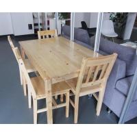 长沙厂家供应 实木餐桌餐椅 原木条纹 经典 时尚