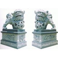 动物雕刻,大象,石狮,麒麟