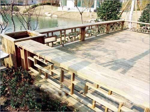 露台 实木栏杆扶手地台 参考图; 参考图露台实木栏杆扶手地台户外