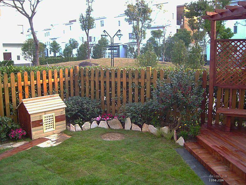 防腐木庭院花园设计图01