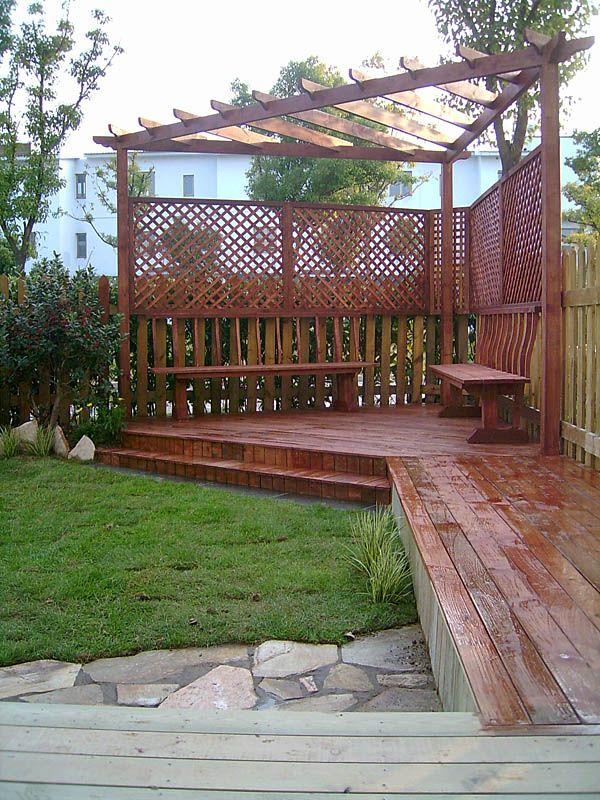 防腐木庭院花园设计图02