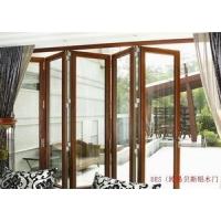 供应铝木门窗BZM90柚木铝折叠门
