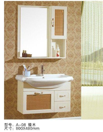 成都牧蒙精品浴室柜-简欧橡木浴室柜