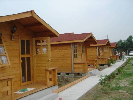 木制活动房屋 小木屋 木头房子