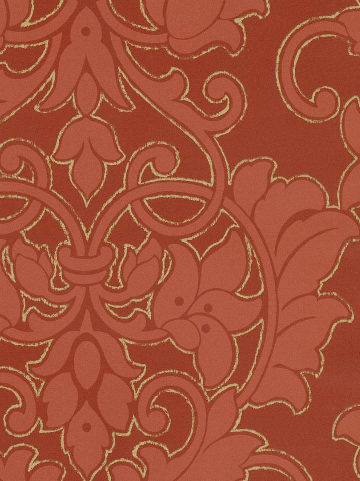 红色欧式壁纸