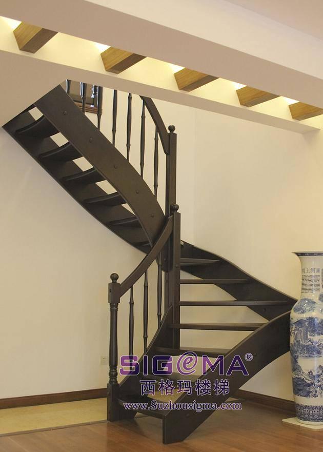 西格玛楼梯将优美的弧线与个性化的几何图形珠联壁图片