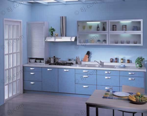 室内设计蓝色展板