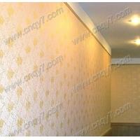 阳光金液体壁纸 液体壁纸走廊效果图 液体壁纸滚花