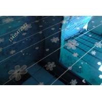 橱柜装饰板-宝石蓝木槿花蚀刻板