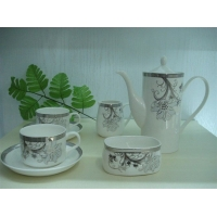 咖啡具、茶具,高档骨质瓷