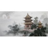 背景墙画瓷板画,景德镇瓷板画,名家瓷板画