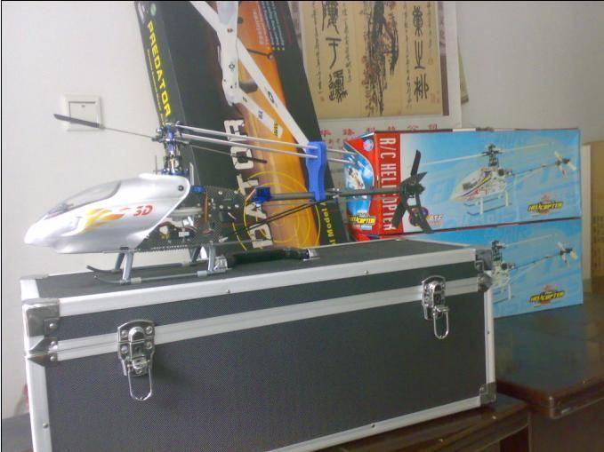 直升机详细配置:  金属为主的旋转头部,尾旋翼组以塑胶为主,碳玻机架