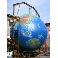 天津玻璃钢地球雕塑
