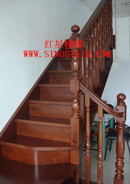 南京红星实木楼梯花瓶柱式楼梯