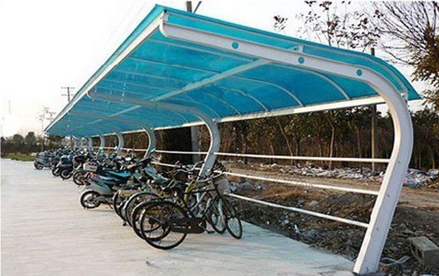 钢结构自行车棚固f�_新款钢结构自行车棚