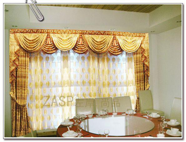 欧式奢华 客厅窗帘 古罗马