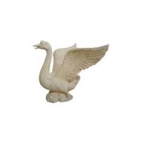 砂岩雕塑喷水鹅