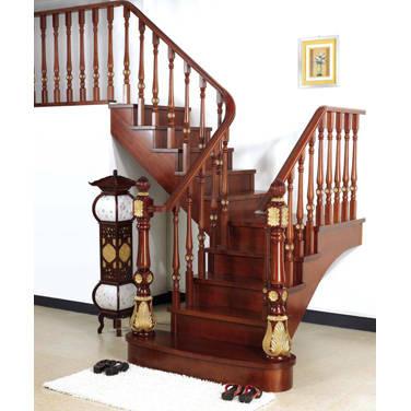 南京楼梯-南京实木楼梯-大发彩票-实木木楼梯-HY053