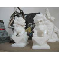 汉白玉石雕蹲狮、汉白玉石雕走狮、汉白玉石雕卧狮、汉白玉麒麟.