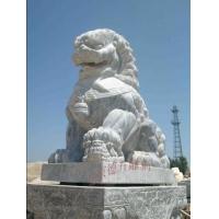 汉白玉石雕蹲狮、汉白玉石雕走狮、汉白玉石雕卧狮、汉白玉迎宾.