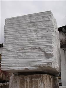 汉白玉玉荒料 白色大理石