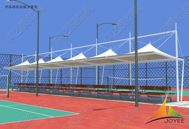 网球场/膜结构是随着现代科学技术发展起来的全新建筑技术表现形式,是...