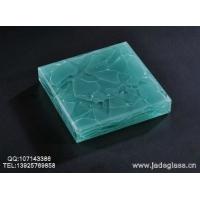 科技型高档人造玉石晶创玉石玻璃湖水蓝