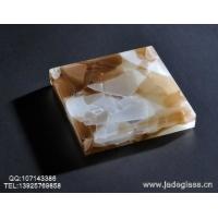 最新艺术玻璃晶创玉石玻璃浓情啡花