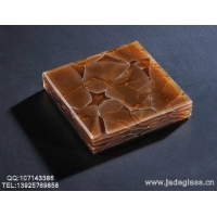环保橱柜台面面板晶创玉石玻璃琥珀棕