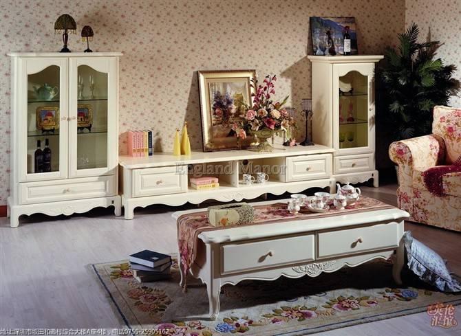 欧式风情-红橡实木电视柜组合