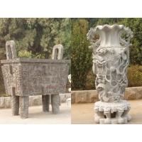 石鼎,石雕香炉天公炉,宝瓶石雕礼器,石雕鼎,风水石雕
