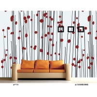 沙发背景墙纸壁画