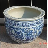北京陶瓷鱼缸天津手绘鱼缸批发
