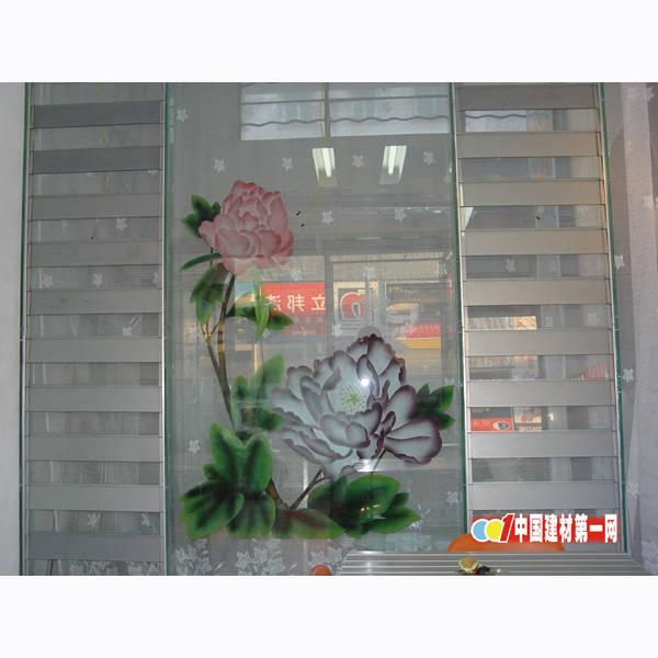 喷花全玻璃-003|多功能万变玻璃百叶透气窗