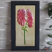 厂家直销外贸艺术玻璃装饰画 有框画 立体手工油画