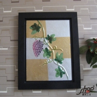 厂家直销外贸艺术玻璃画,装饰画,有框画,油画