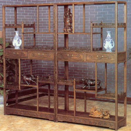 仿古门窗 雕花隔断 屏风 博古架柜产品图片,东渝木雕家具 仿古家具 高清图片