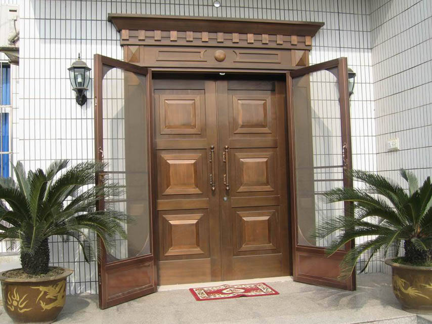 别墅铜门+纱门别墅中洲的图片