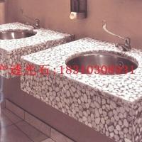 北京鹅卵石某休闲会所卫生间洗手盆台面