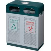 钢板分类果皮箱、烤漆垃圾桶、街道环卫垃圾箱