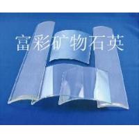 生产加工定制各种规格镀膜弧形石英玻璃瓦片