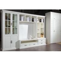 依情法式衣柜 白色印象视听柜 现代家具储物柜