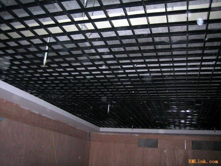 格栅石膏板吊顶效果图