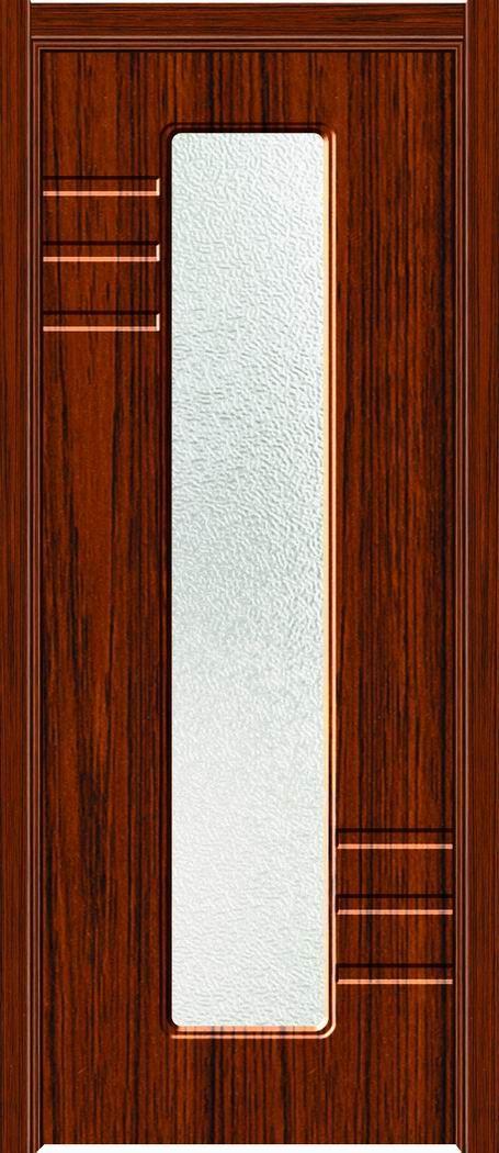 室内实木玻璃门图片