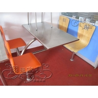 直销不锈钢餐桌 食堂餐桌 钢木家具可定做