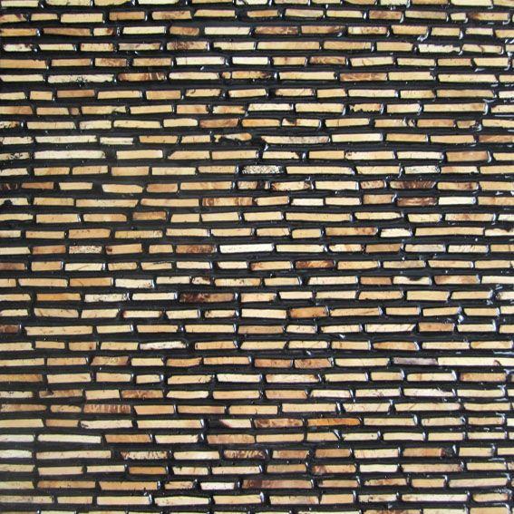 木头实木马赛克woodmosaic 椰壳竹子艺术马赛克 天然火山岩马赛克