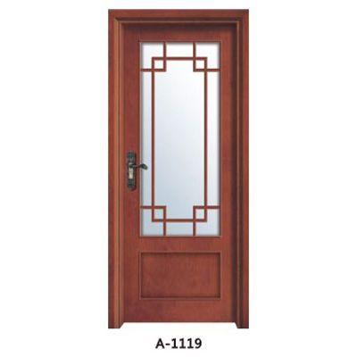 成都实木贴板门A-1118、A-1119