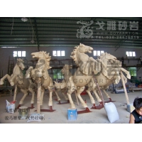 骏马雕塑图