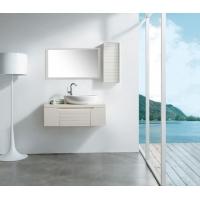 简欧风米白色PVC浴室柜